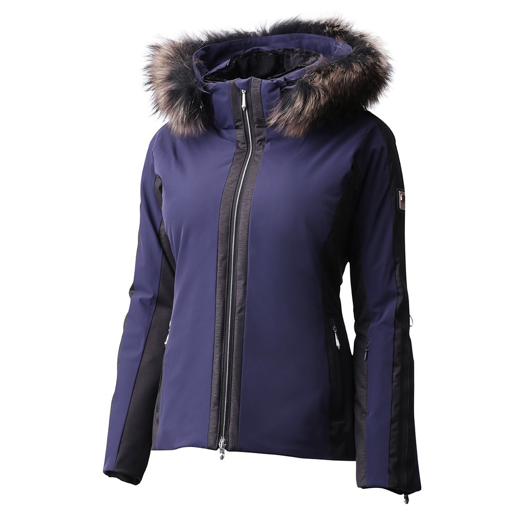 Descente Gianni Insulated Ski Jacket with Real Fur (Women's) - Dark Night