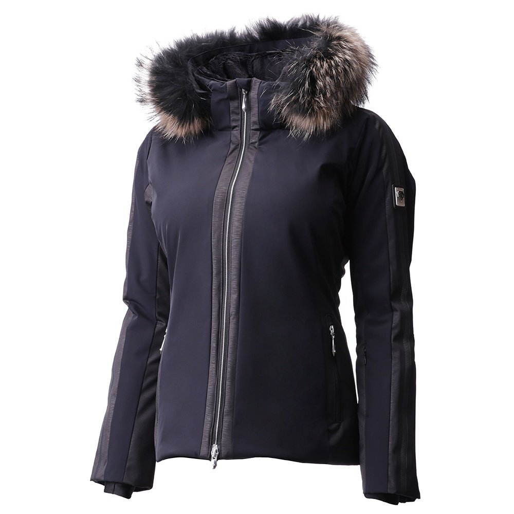 Descente Gianni Insulated Ski Jacket with Real Fur (Women's) - Black