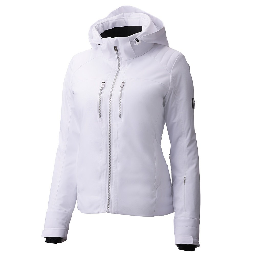 Descente Camreigh Insulated Ski Jacket (Women's) - Geo Lace White/Super White