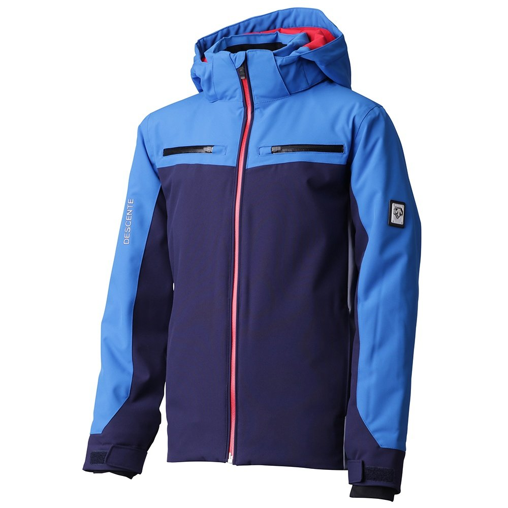 Descente Swiss Insulated Ski Jacket (Boys') - Dark Night/Airway Blue/Electric Red