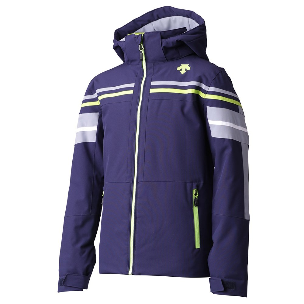 Descente Cruz Insulated Ski Jacket (Boys') - Dark Night/Arctic Storm/Lime Green