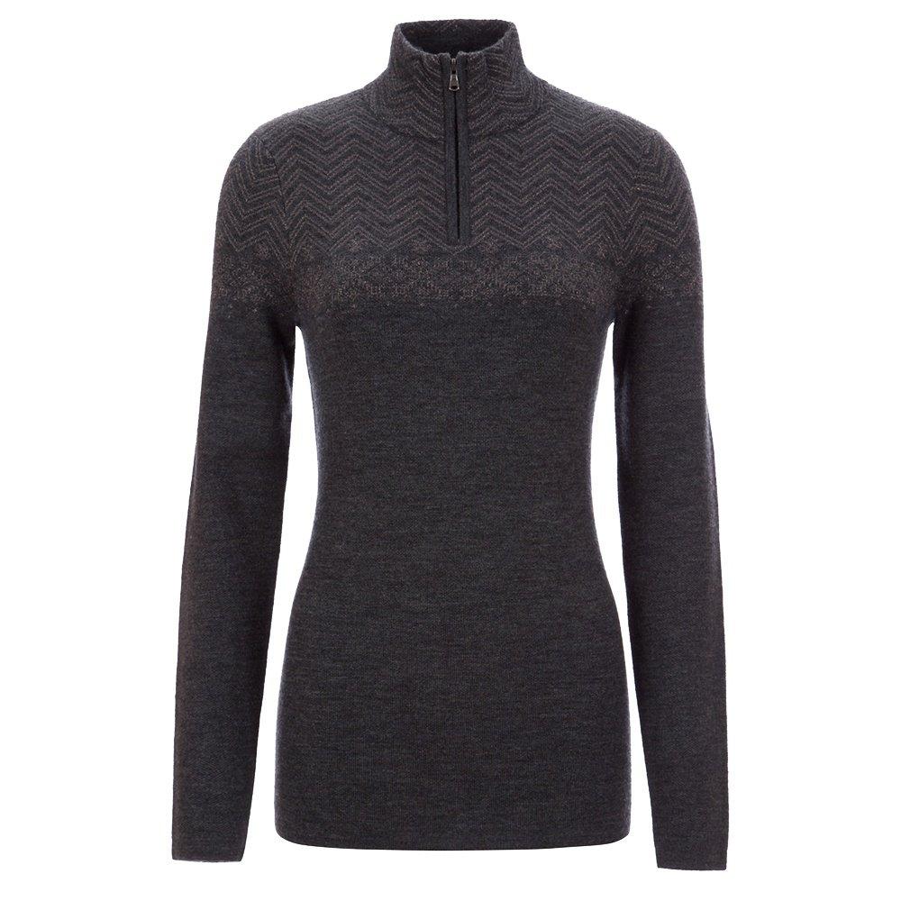 Meister Felicity 1/4-Zip Sweater (Women's) - Charcoal Gray/ Pewter Metallic