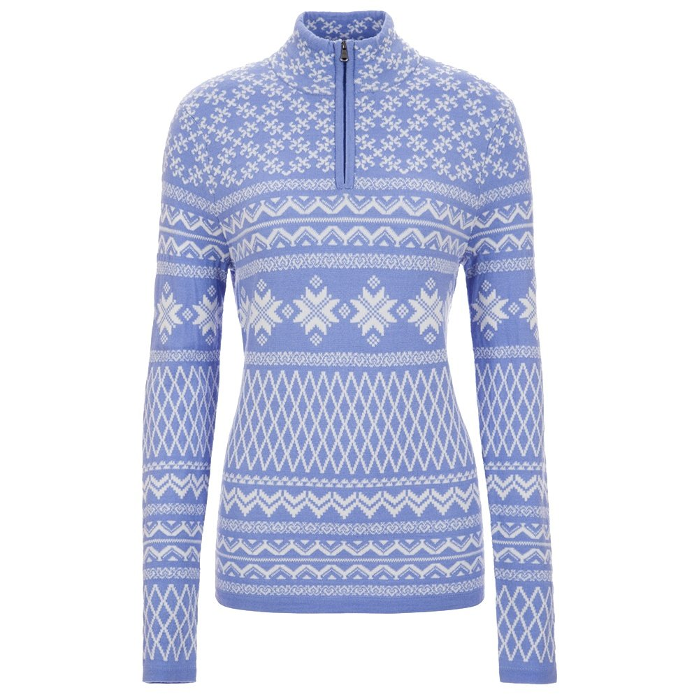 Meister Grace 1/4-Zip Sweater (Women's) - Periwinkle/Winter White/Deep Navy