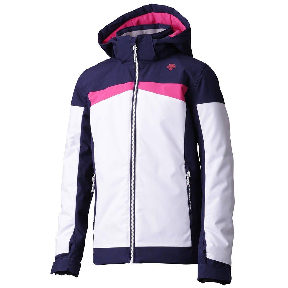 Descente Harley Insulated Ski Jacket (Girls') - Super White/Dark Night/Pink
