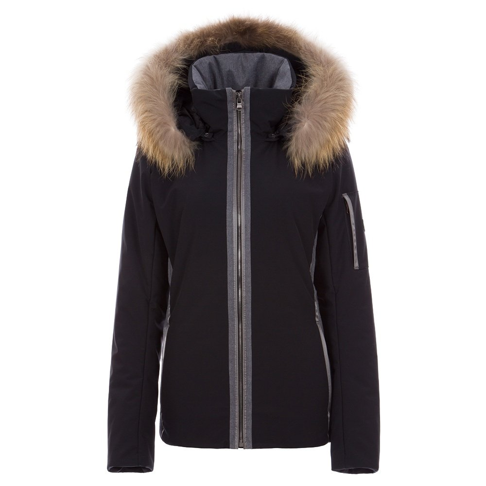 Fera Danielle2 Insulated Ski Parka with Real Fur (Women's) - Black/Charcoal