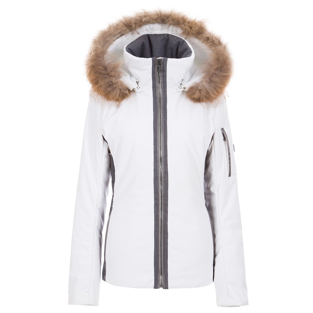 Fera Danielle2 Insulated Ski Parka with Real Fur (Women's) - White Cloud