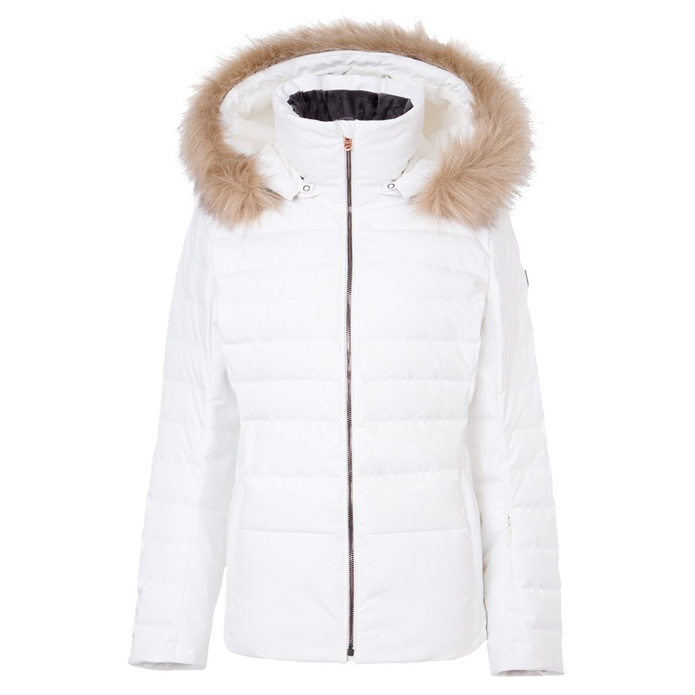 Fera Julia Down Ski Parka with Real Fur (Women's) - White/Cloud