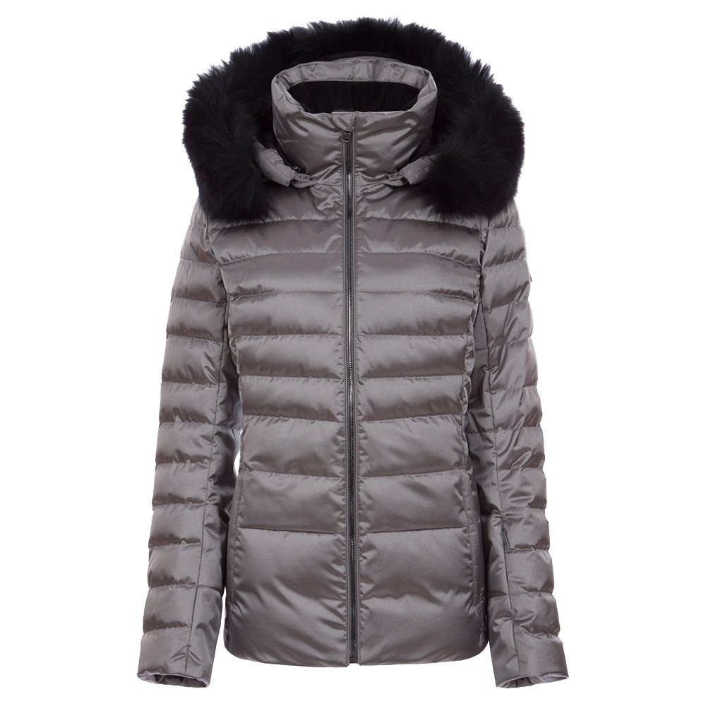 Fera Julia Special Down Ski Parka with Real Fur (Women's) - Pewter