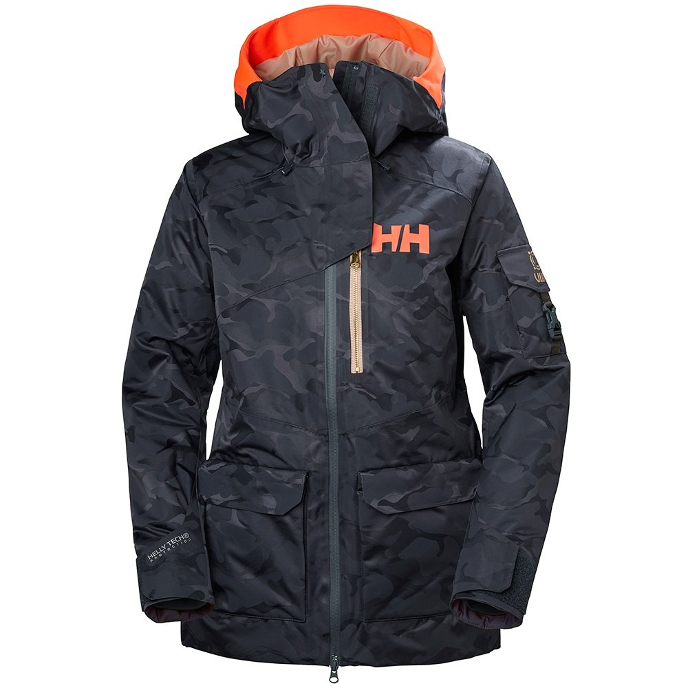 Helly Hansen Powderqueen 2.0 Insulated Ski Jacket (Women's) - Graphite Blue Camo