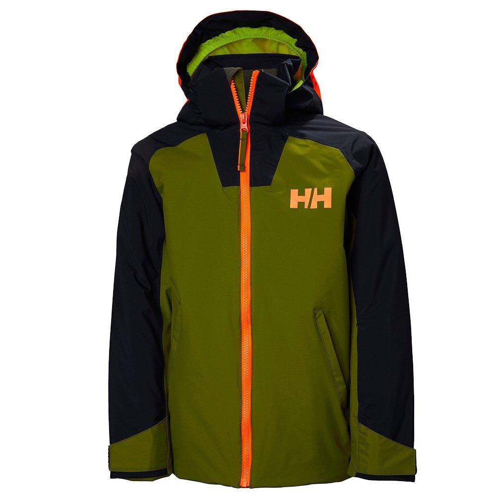 Helly Hansen Twister Insulated Ski Jacket (Boys') - Fir Green