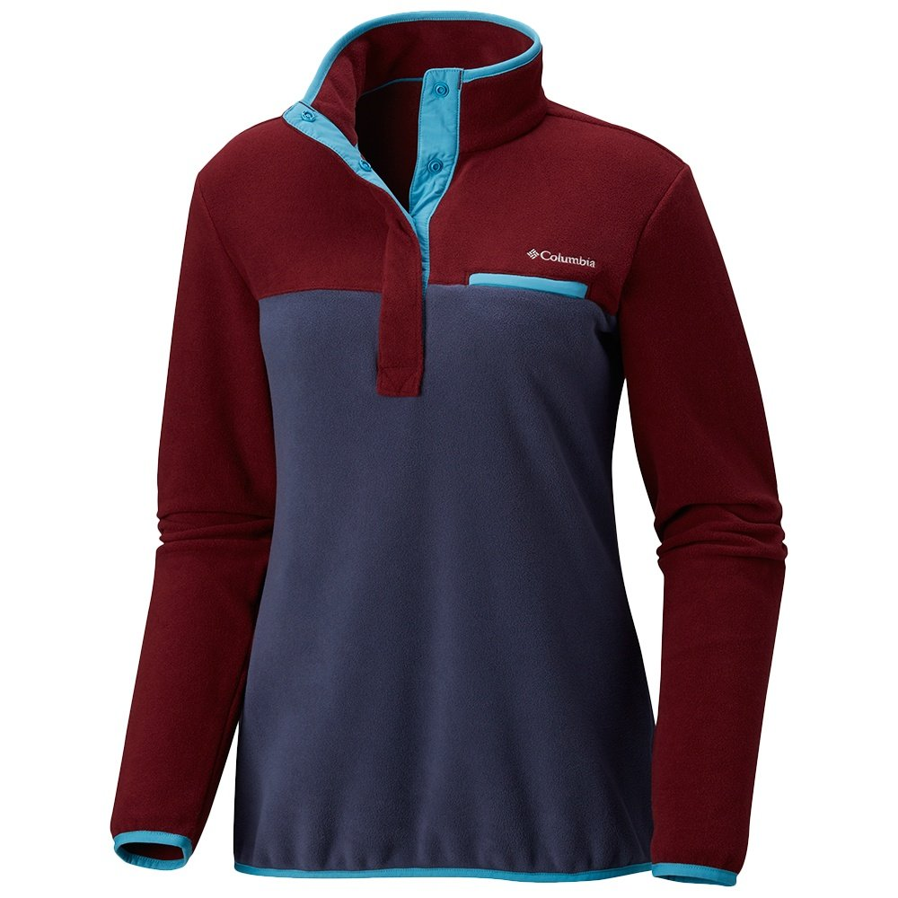 Columbia Mountain Side Plus Pullover Fleece (Women's) - Rich Wine/Nocturnal