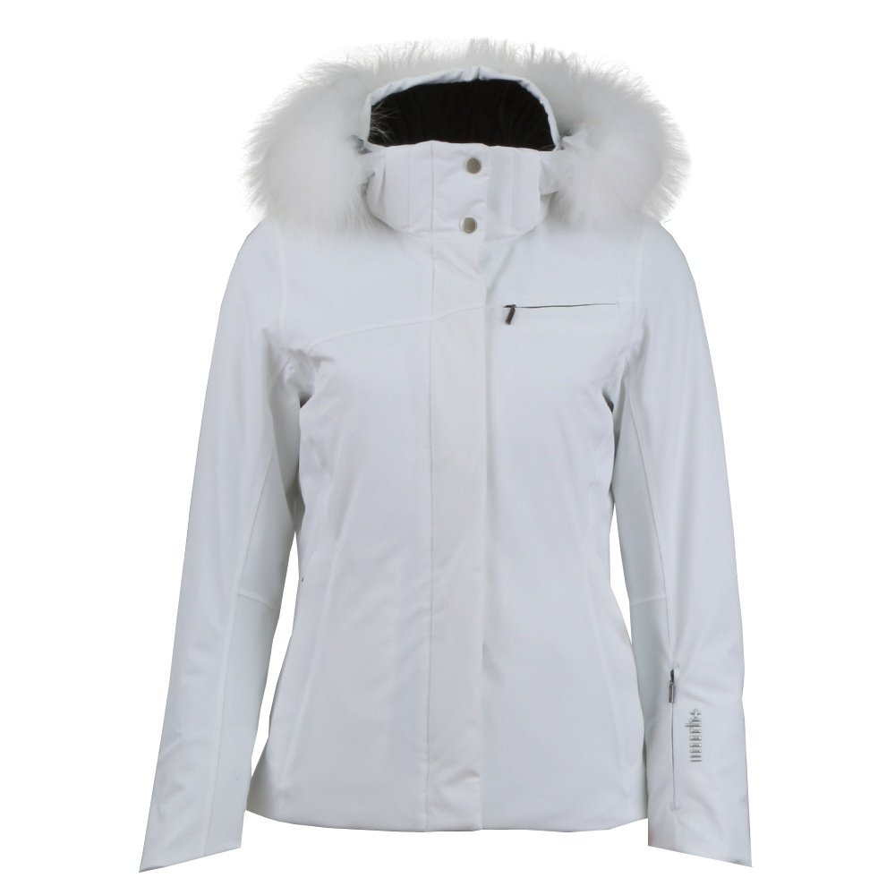 Rh+ Harper Insulated Ski Jacket with Real Fur (Women's) - White/White