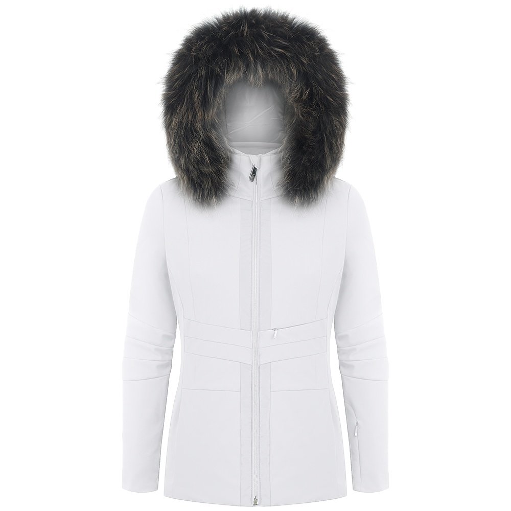Poivre Blanc Stretch Insulated Ski Jacket with Faux Fur (Women's) - White
