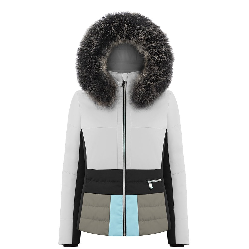 Poivre Blanc Colorblock Insulated Ski Jacket with Faux Fur (Women's) -