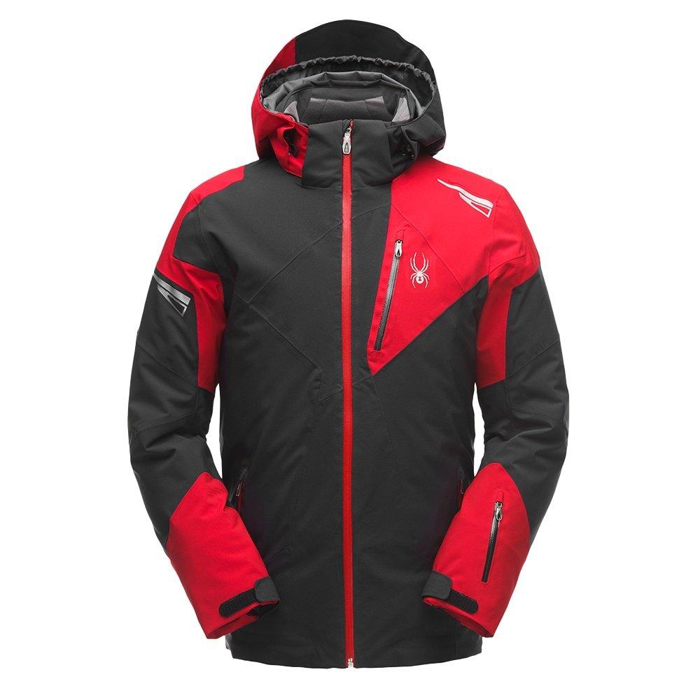 Spyder Leader GORE-TEX Insulated Ski Jacket (Men's) - Black/Red/Black