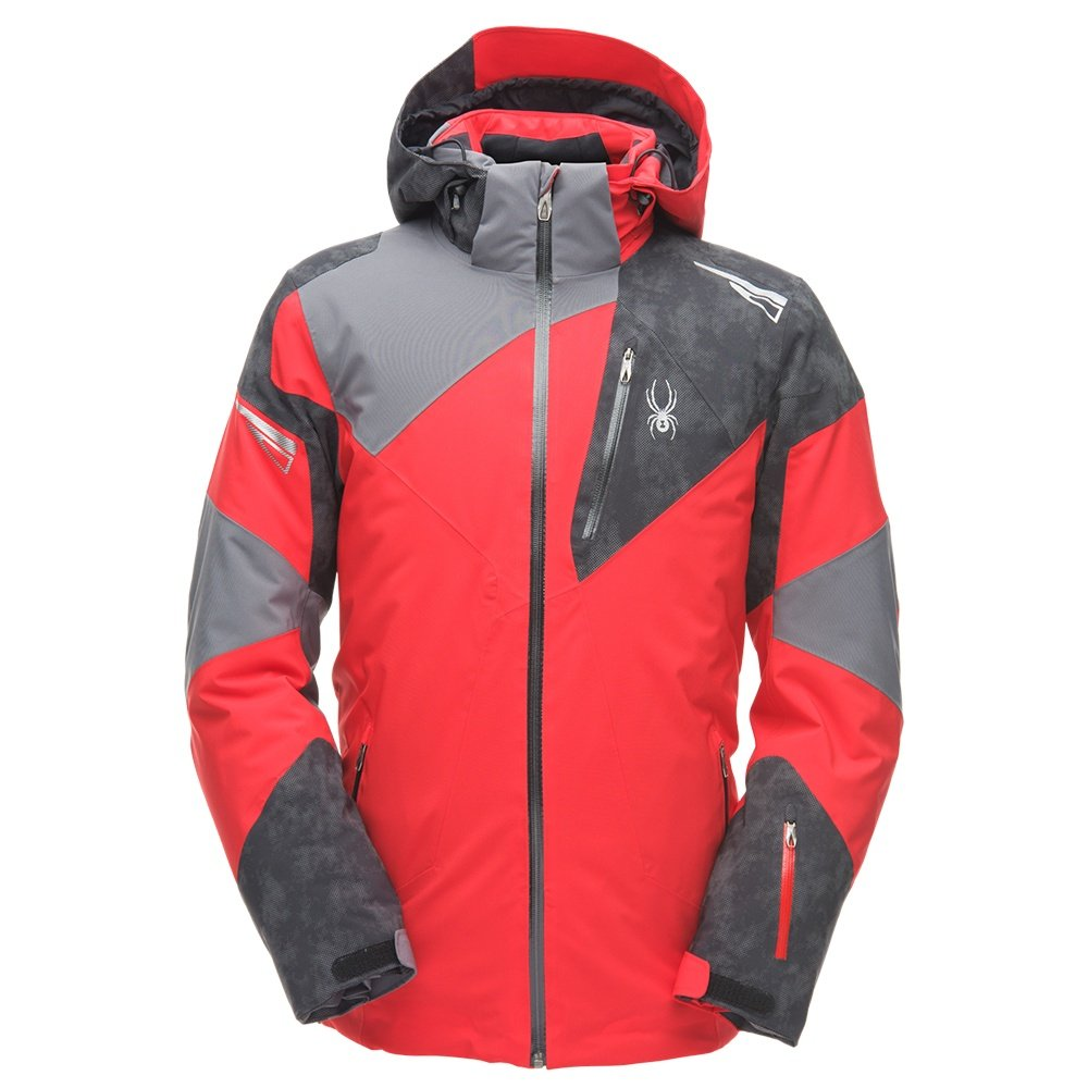 Spyder Leader GORE-TEX Insulated Ski Jacket (Men's) - Red/Cloudy Reflective Distress/Polar