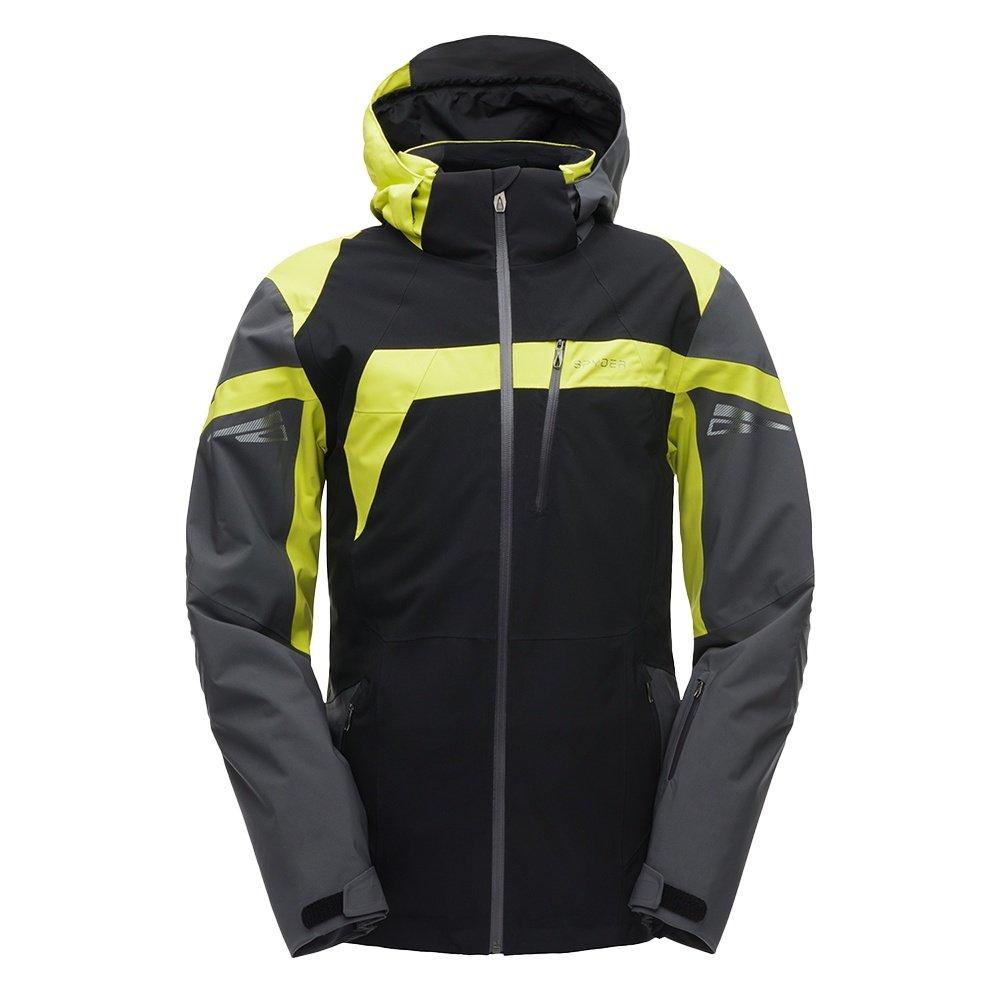 Spyder Titan GORE-TEX Insulated Ski Jacket (Men's) - Black/Polar/Acid