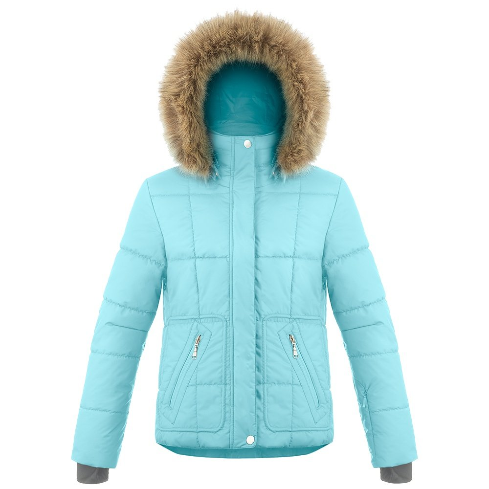 Poivre Blanc Funline Insulated Ski Jacket with Faux Fur (Women's) - Dream Blue