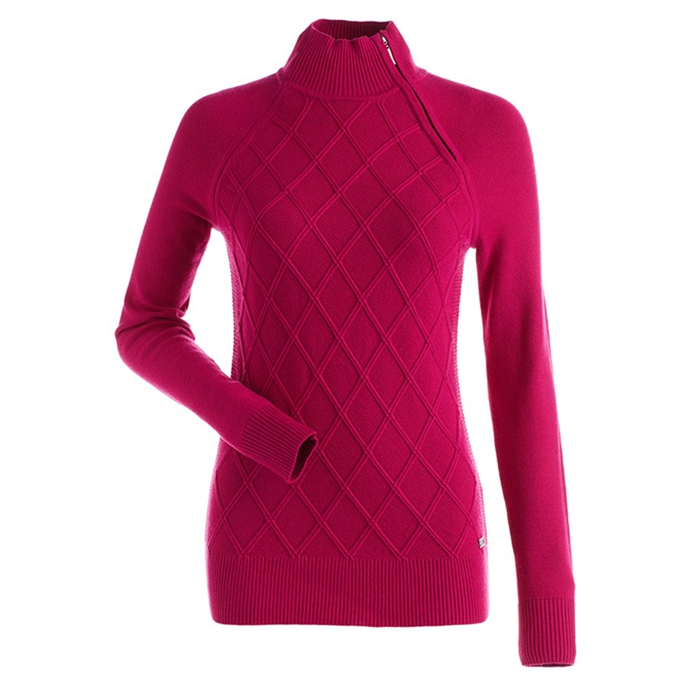 Nils Monique 1/4-Zip Sweater (Women's) - Hot Pink
