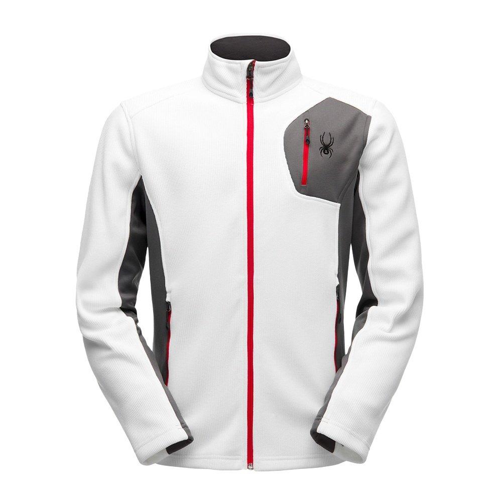 Spyder Bandit Full-Zip Stryke Jacket (Men's) - White/Polar/Red