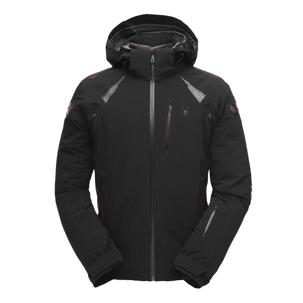Spyder Pinnacle GORE-TEX Insulated Ski Jacket (Men's) - Black/Black/Black