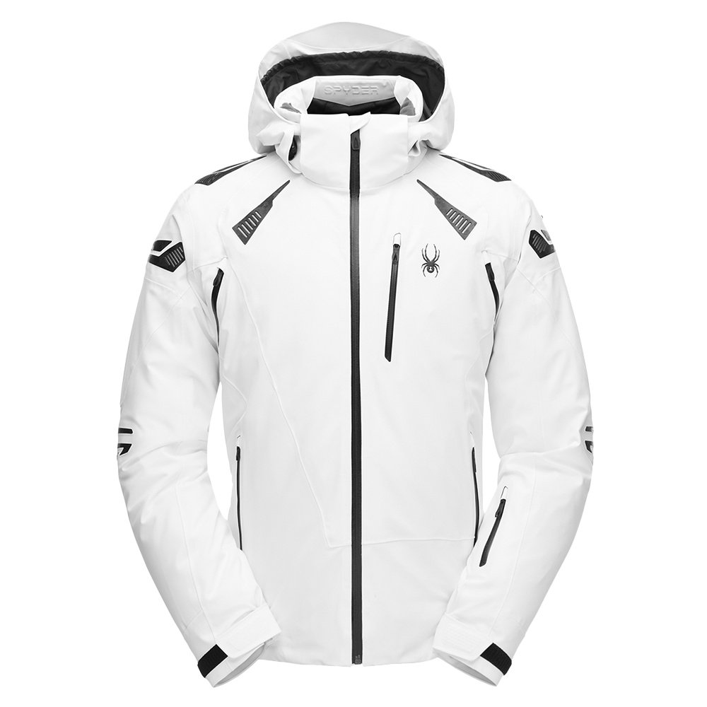 Spyder Pinnacle GORE-TEX Insulated Ski Jacket (Men's) - White/Wool Blend Twill/Black