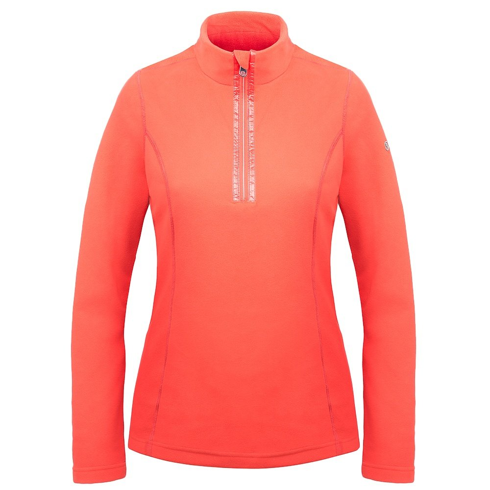 Poivre Blanc Microfleece 1/4-Zip Mid-Layer (Women's) - Nectar Orange