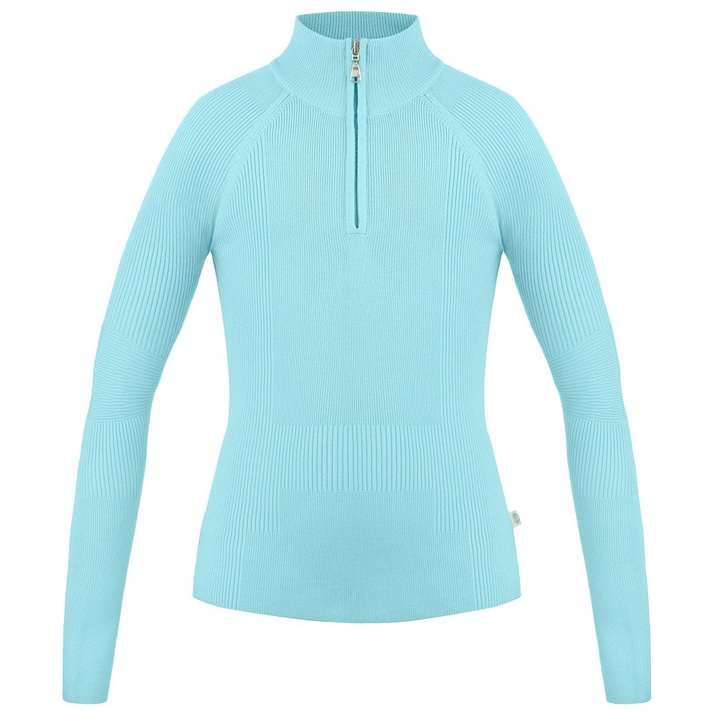 Poivre Blanc Viscose 1/4 Zip Sweater (Women's) - Dream Blue