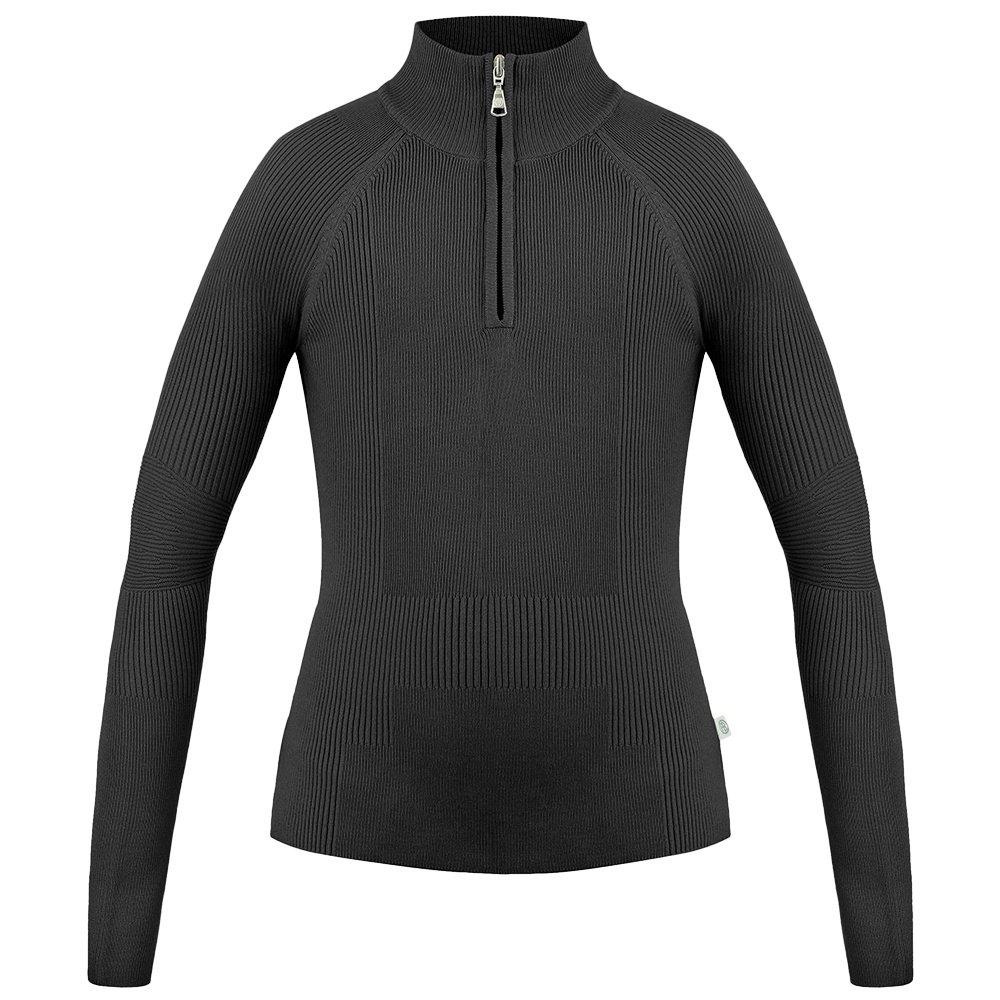 Poivre Blanc Viscose 1/4 Zip Sweater (Women's) - Black