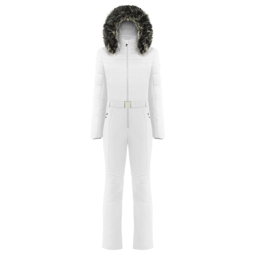 Poivre Blanc Stretch Insulated Ski Suit with Faux Fur (Women's) - White