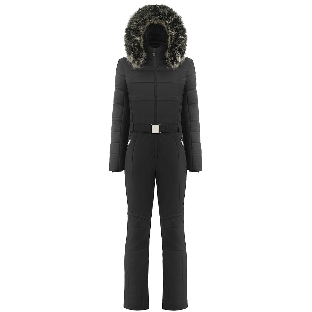 Poivre Blanc Stretch Insulated Ski Suit with Faux Fur (Women's) -