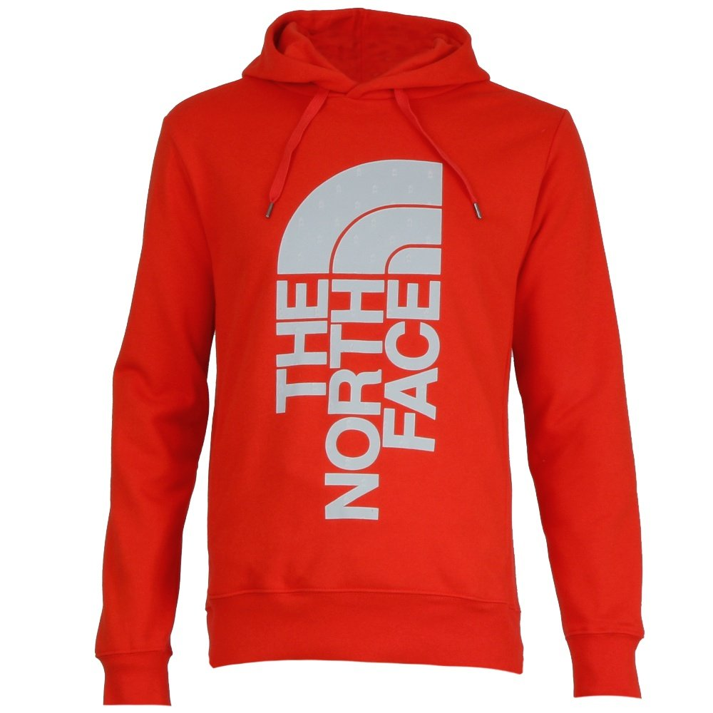 The North Face Trivert Pullover Hoodie (Men's) - Fiery Red/High Rise Grey Campfire Print