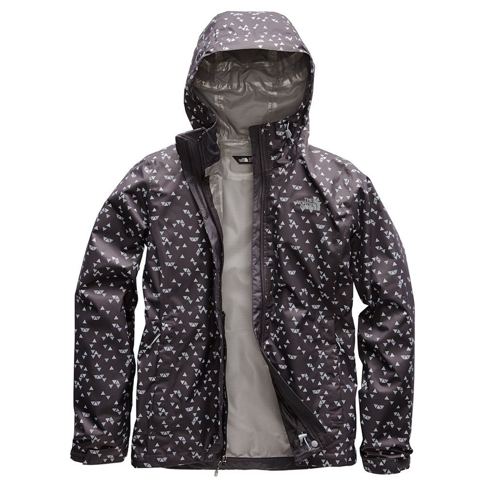 The North Face Print Venture Rain Jacket (Women's) - Weathered Black Sparse Triangle Print