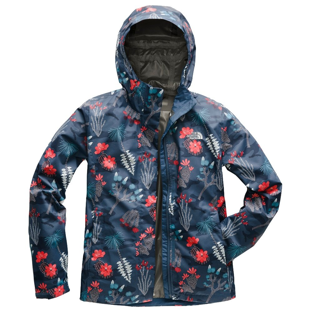 The North Face Print Venture Rain Jacket (Women's) - Blue Wing Teal Joshua Tree Print