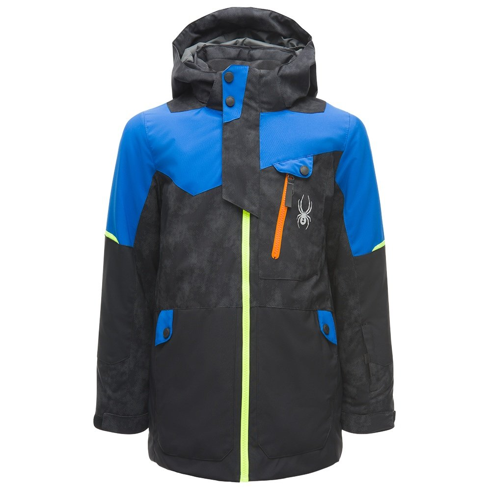Spyder Tordrillo GORE-TEX Insulated Ski Jacket (Boys') - Cloudy Refective Distress/Black/Turkish Sea