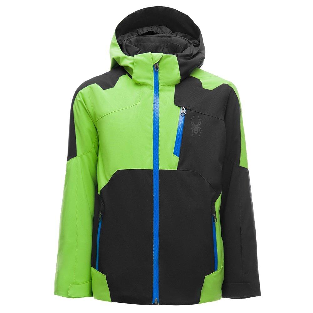 Spyder Speed Insulated Ski Jacket (Boys') - Black/Fresh/Turkish Sea