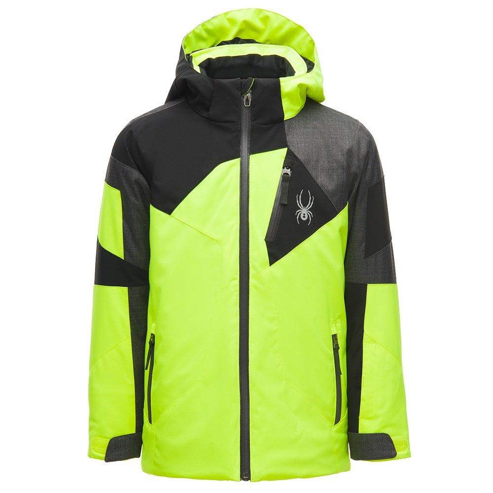 Spyder Leader Insulated Ski Jacket (Boys') - Bryte Yellow/Polar/Black