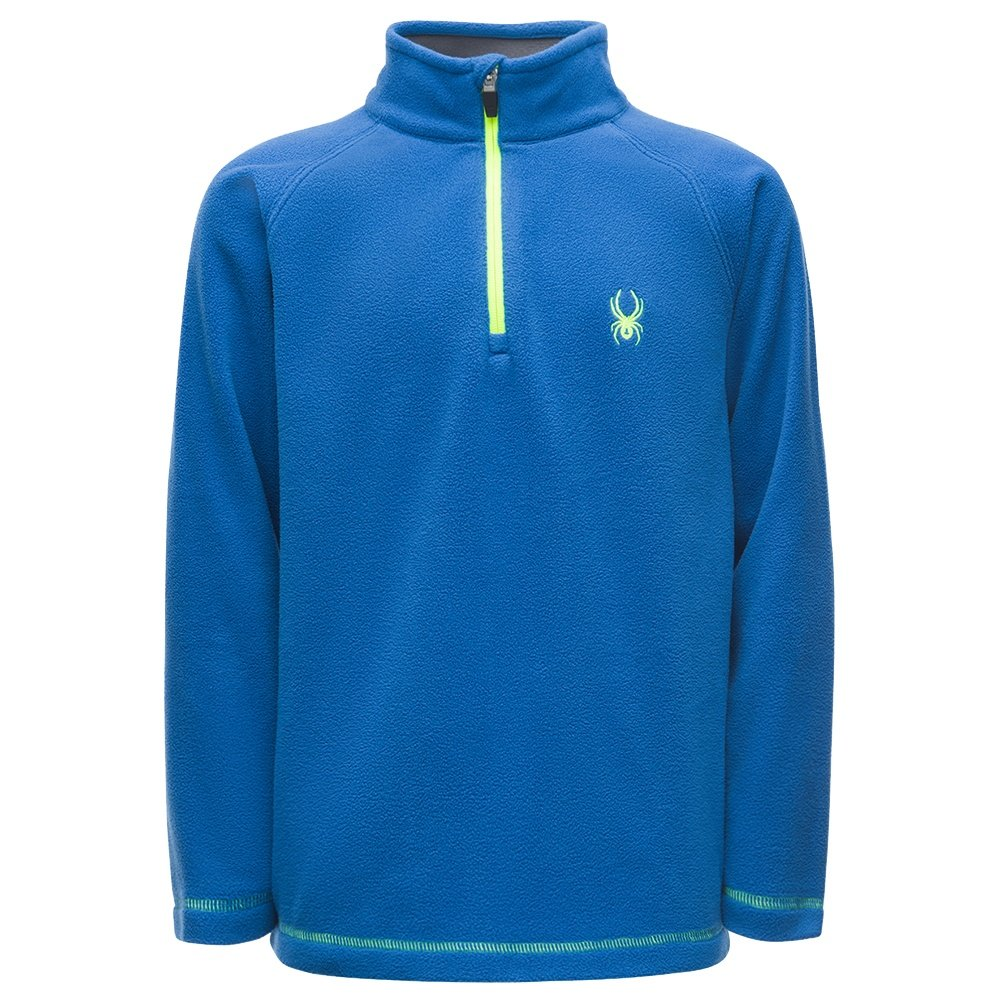 Spyder Speed Fleece Top (Boys') - Turkish Sea/Bryte Yellow