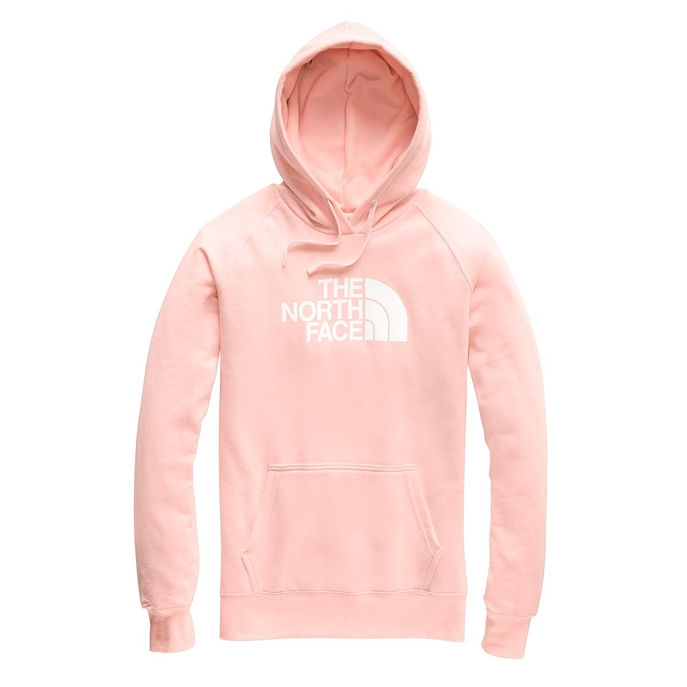 The North Face Half Dome Pullover Hoodie (Women's) - Pink Salt/TNF White