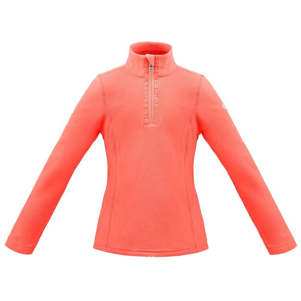 Poivre Blanc Microfleece 1/4-Zip Mid-Layer (Girls') - Nectar Orange