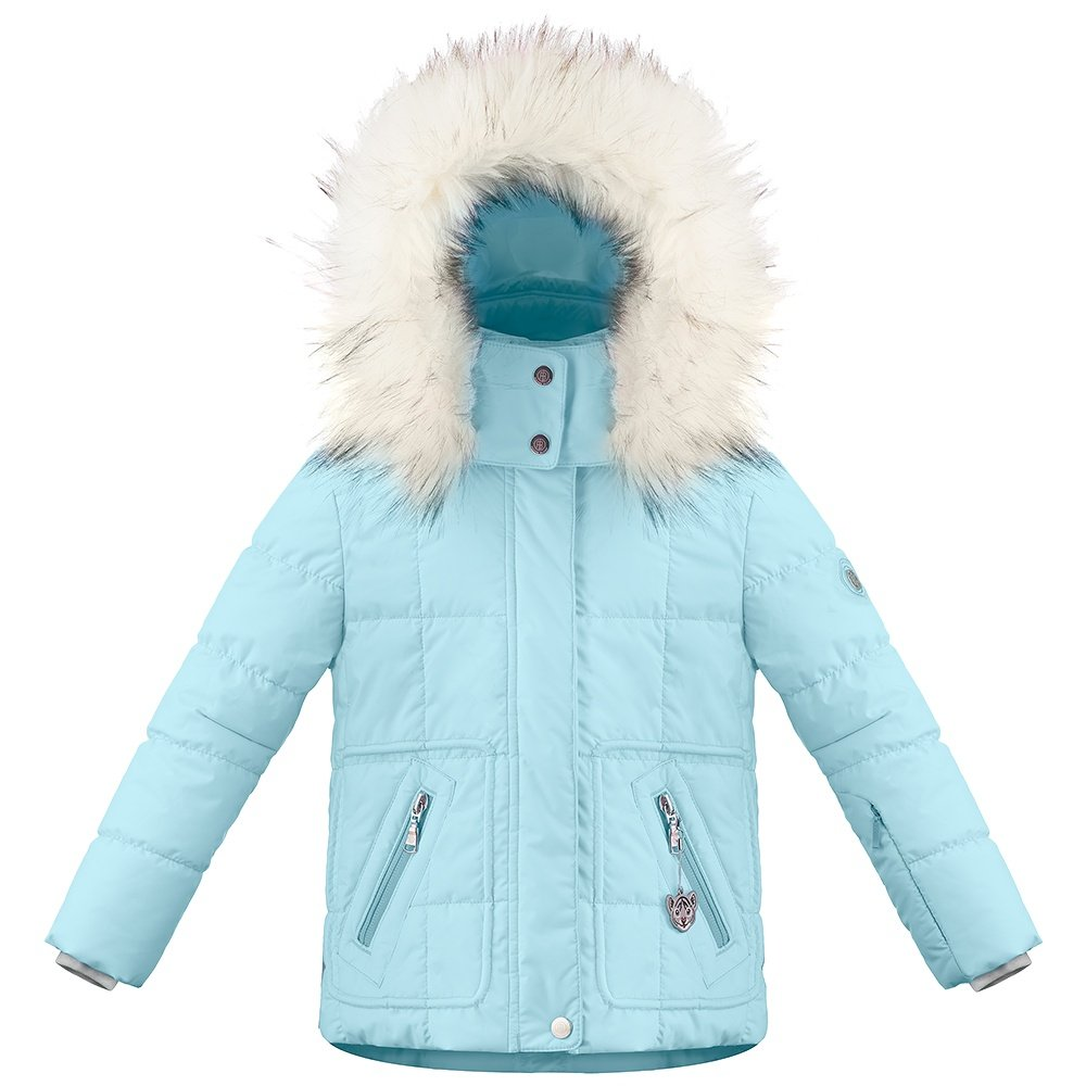 Poivre Blanc Funline Insulated Ski Jacket with Faux Fur (Little Girls') - Dream Blue