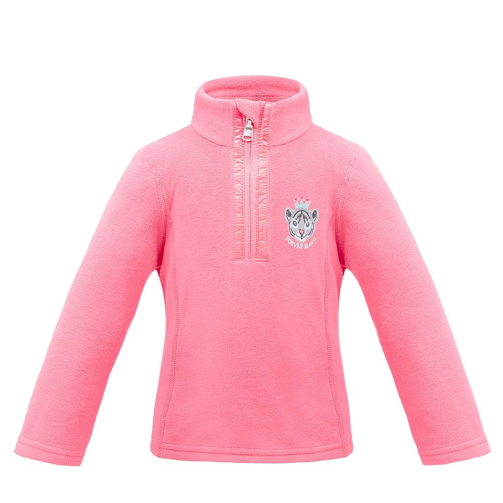 Poivre Blanc PB Microfleece 1/4-Zip Mid-Layer (Little Girls') - Punch Pink