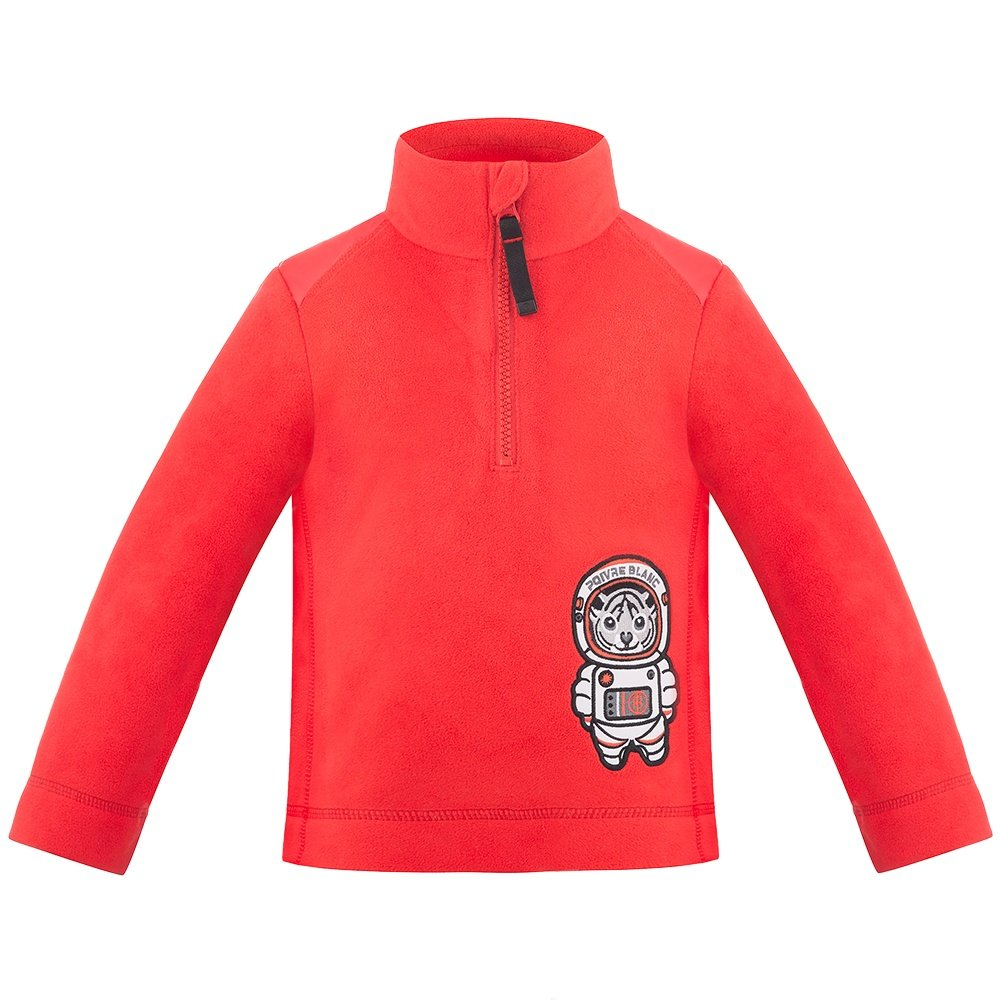 Poivre Blanc PB Space Fleece 1/4-Zip Mid-Layer (Little Boys') - Scarlet Red2