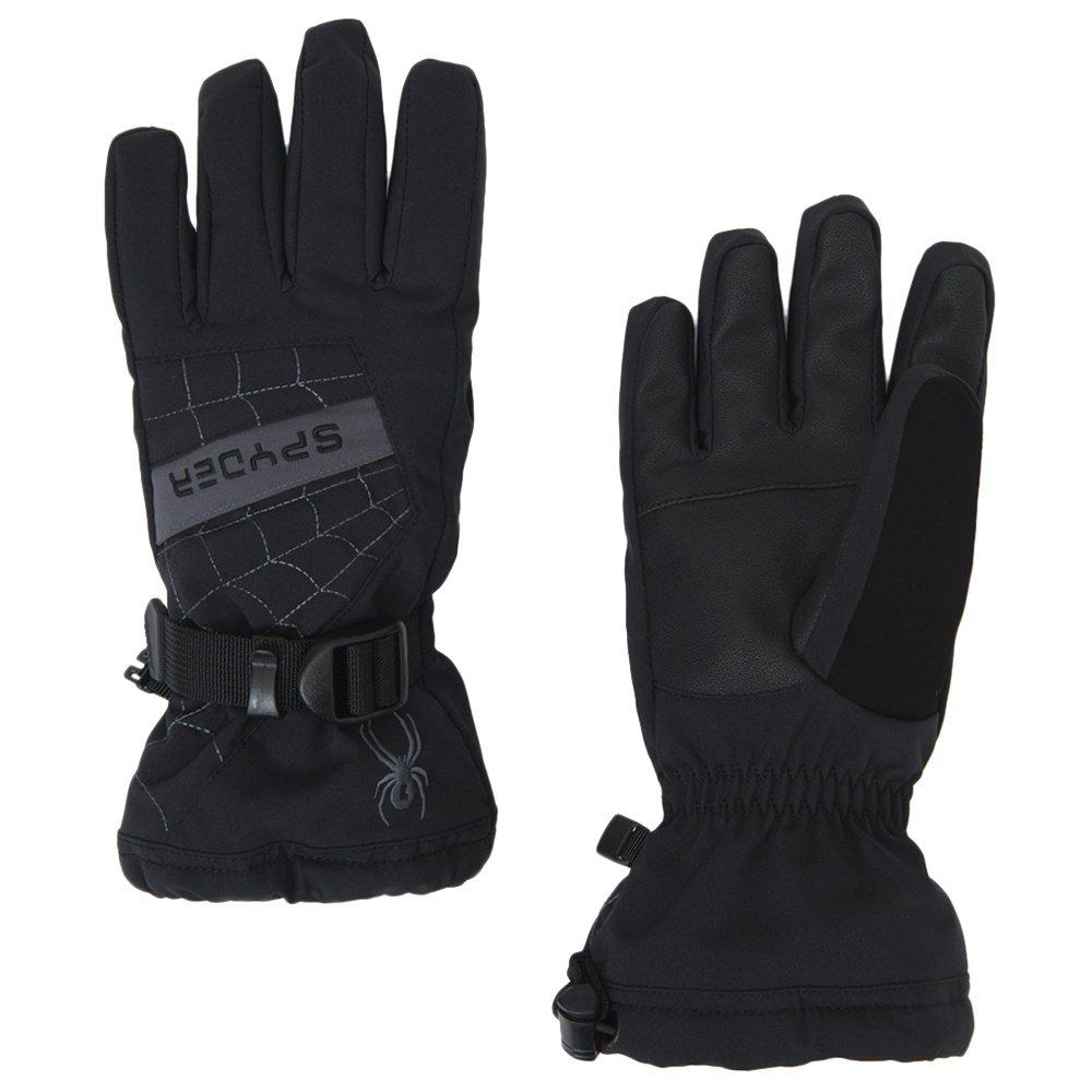 Spyder Overweb Ski Glove (Boys') - Black/Polar
