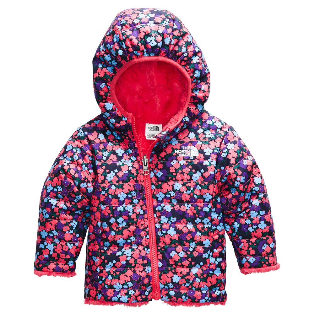 The North Face Reversible Mossbud Swirl Hoodie (Infants') - Paradise Pink Wildflower Print