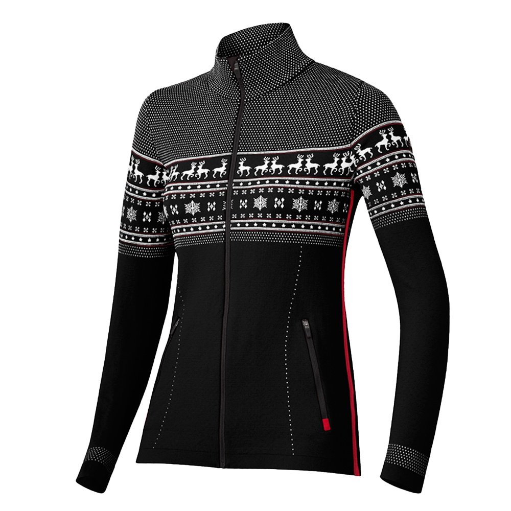 Newland Corona Full Zip Sweater (Women's) - Black/White
