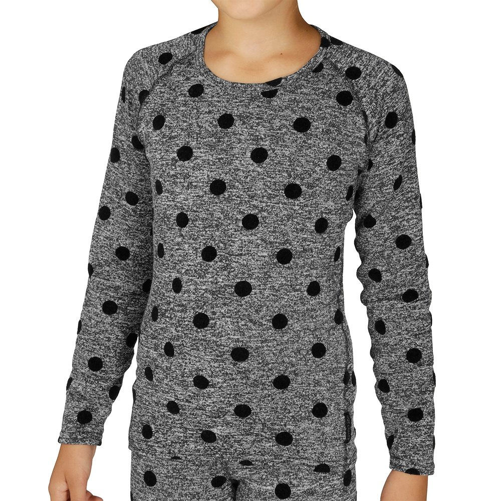 Hot Chillys Heather Dot Scoopneck Baselayer Top (Girls') - Black Heather