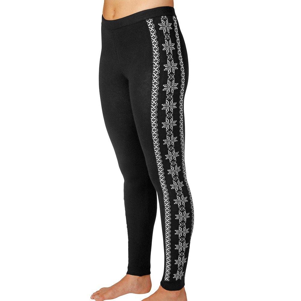 Hot Chillys Sweater Knit Print Baselayer Legging (Women's) - Sideline/Black