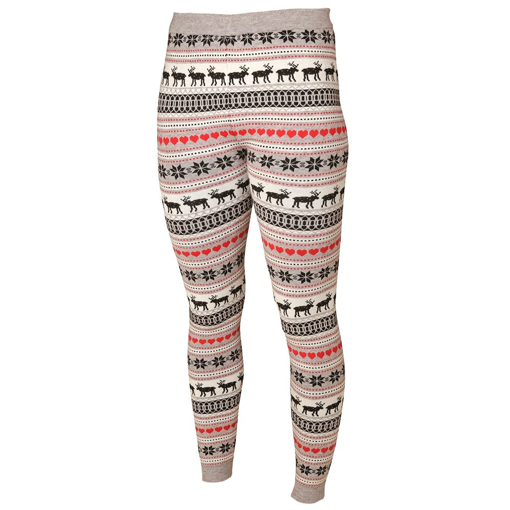 Hot Chillys Sweater Knit Print Baselayer Legging (Women's) - Winter Love