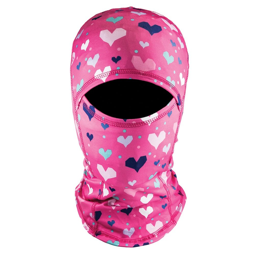 Bula Sharp Printed Balaclava (Kids') - Heart Pink
